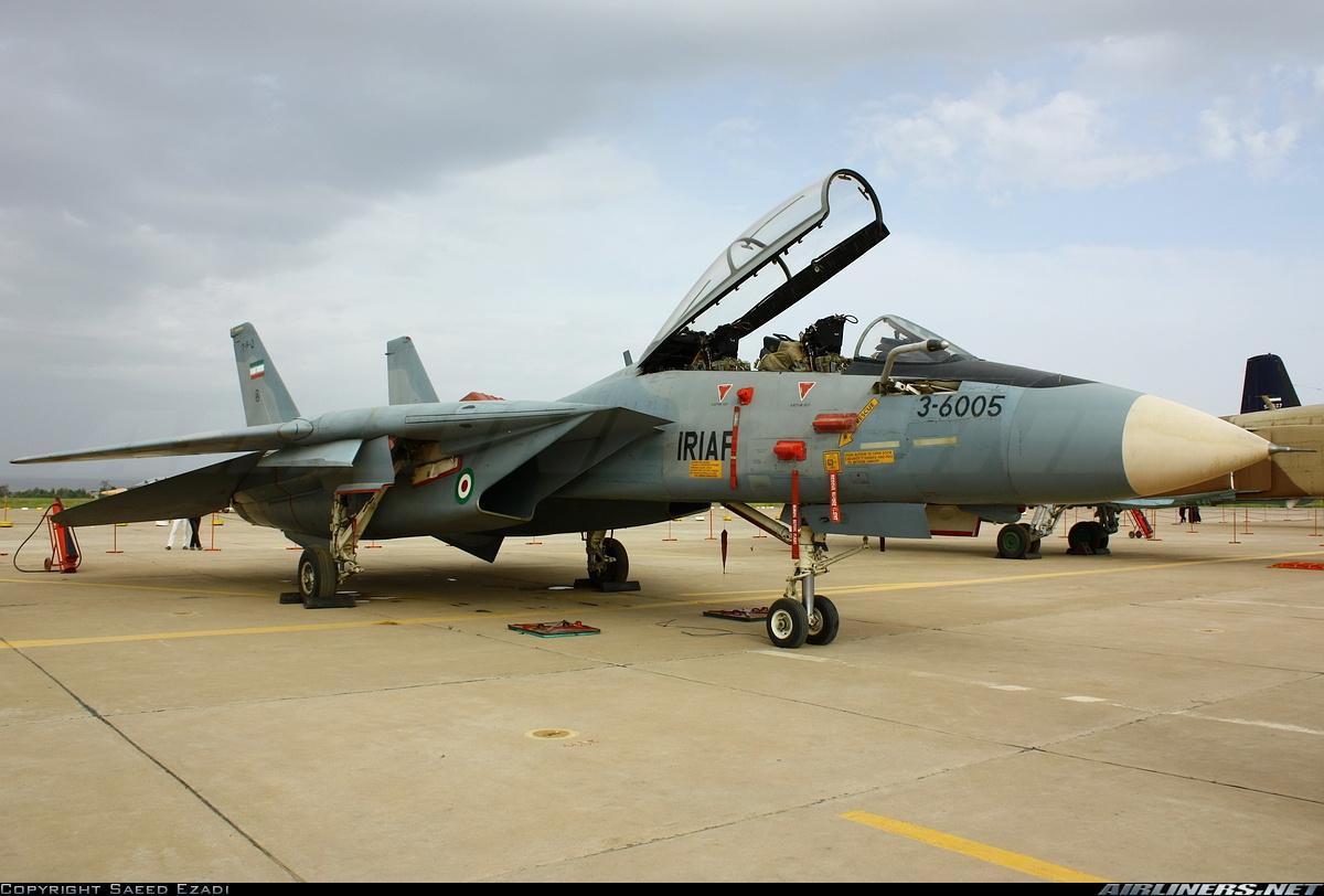 F-14A de la IRIAF estacionado en tierra