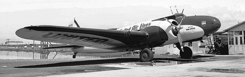 Boeing 247 de United Airlines (Fuente: www.mission4today.com)