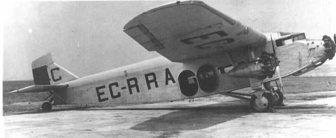 Ford Trimotor 4-ATF de la compañía española CLASSA, que operó entre 1928 y 1931