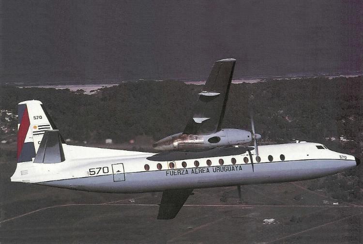 Preciosa virada del FH227D FAU 570 sobre el Río de la Plata (Fuente: Nelson y Jorge Boubeta / Airliners.net)