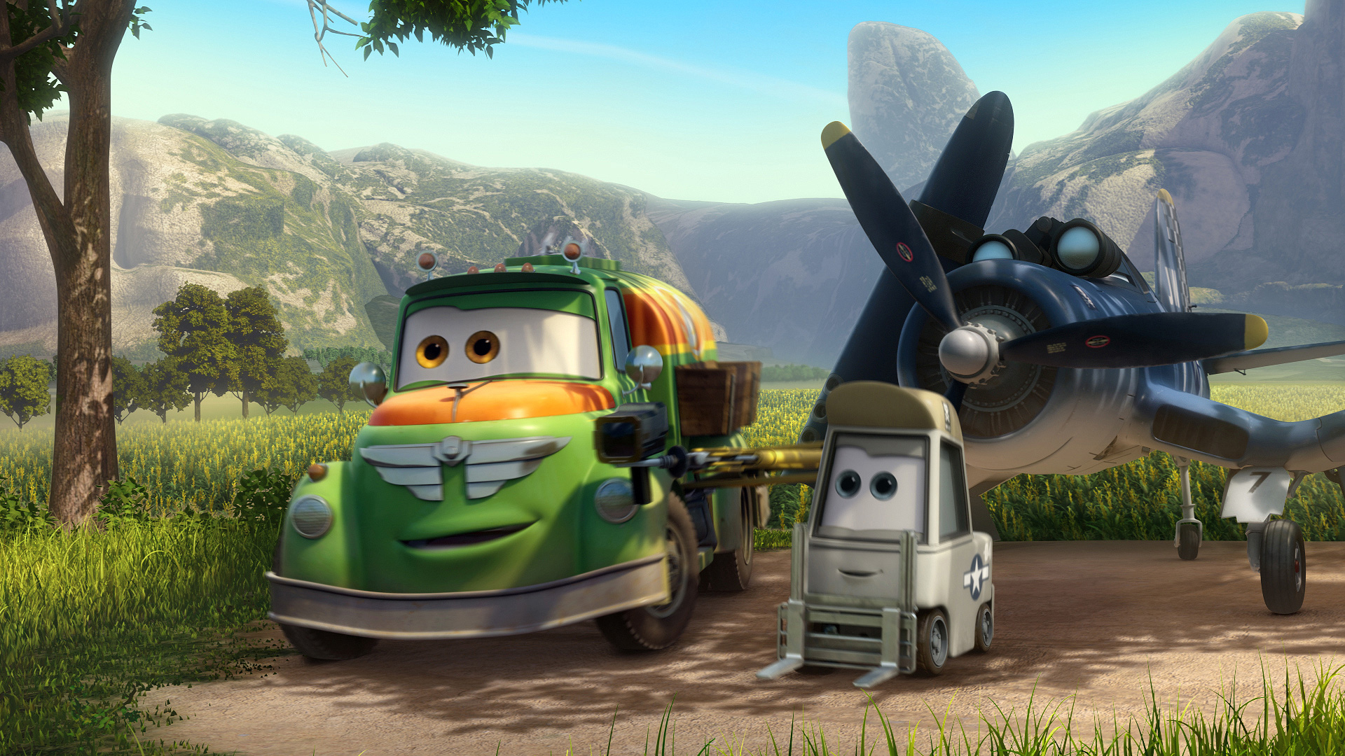 Skipper, Chug y Dottie, los mejores amigos de Dusty (fuente: Disney)