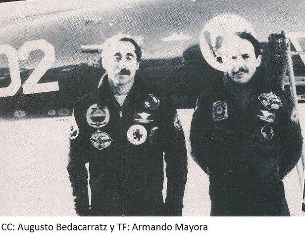 Los pilotos: Bedacarratz y Mayora