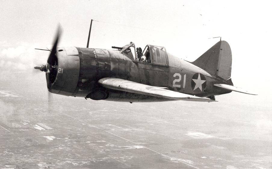 El Brewster F2A Buffalo resultaba virtualmente un aparato suicida en combate con el Mitsubishi Zero