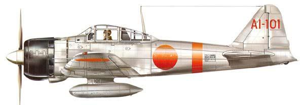 Mitsubishi A6M2 Zero (Portaaviones Akagi)