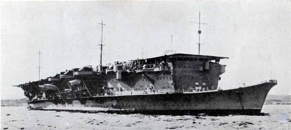 El portaaviones ligero Ryūjō en 1936