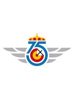 Logotipo diseñado por el Ejército del Aire para la celebración de su 75 aniversario . Fuente: ejercitodelaire.mde.es