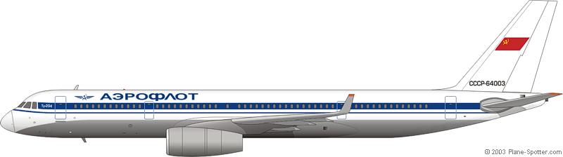 Tu-204 Aeroflot
