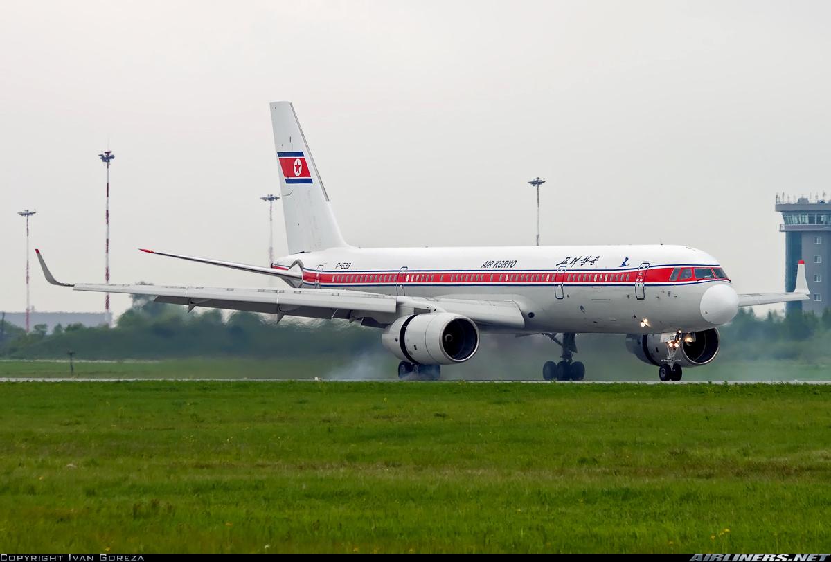 Un exótico Tu-204-100B de la compañía norcoreana Air Koryo aterriza en el aeropuerto de Vladivostok (fuente: Ivan Goreza/Airliners.net)