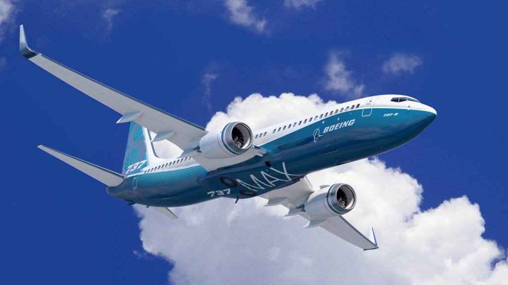Impresión del futuro Boeing 737 MAX 8, con fuselaje estándar (fuente: Boeing)