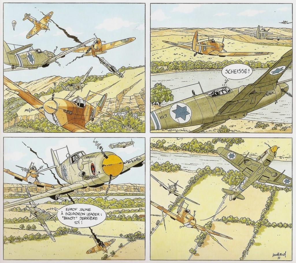 Los S-199 de la IAF se enfrentan a los Spitfires egipcios sobre los cielos de Israel en el verano de 1948 (fuente: http://trazosenelbloc.blogspot.com.es)