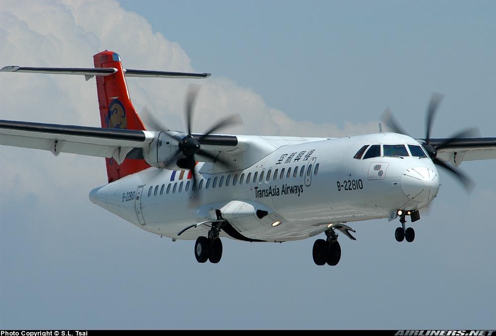 El ATR siniestrado, matrícula B-22810 y operado por TransAsia, había sido entregado a la compañía taiwanesa en el año 2000 (fuente: S.L. Tsai / Airliners.net)