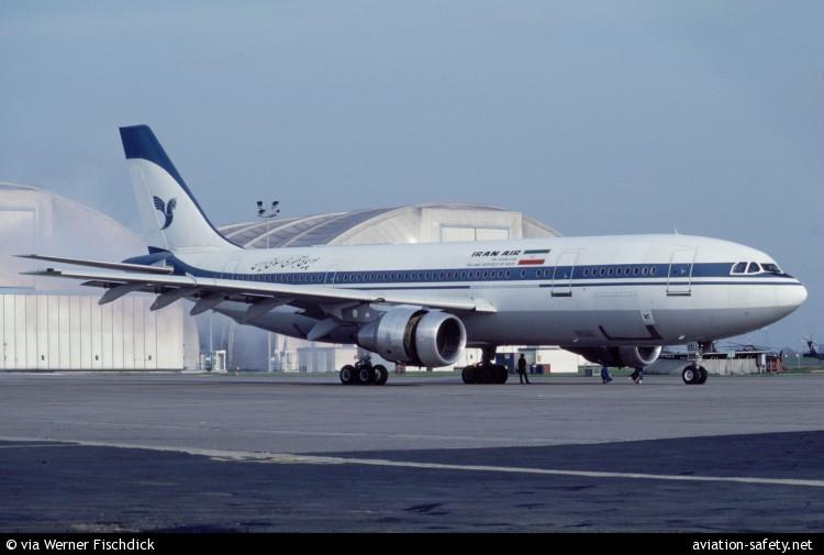 Airbus A300B2-203 de Iran Air derribado por un crucero norteamericano en 1988 (fuente: Werner Fischdick)