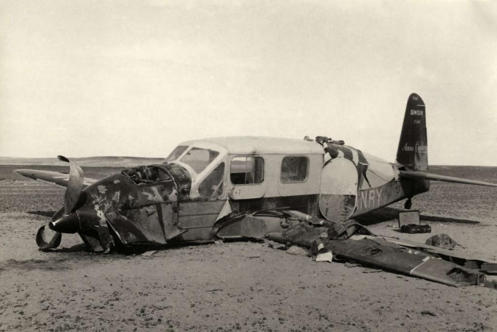 Estado en que quedó el avión tras el aterrizaje de emergencia