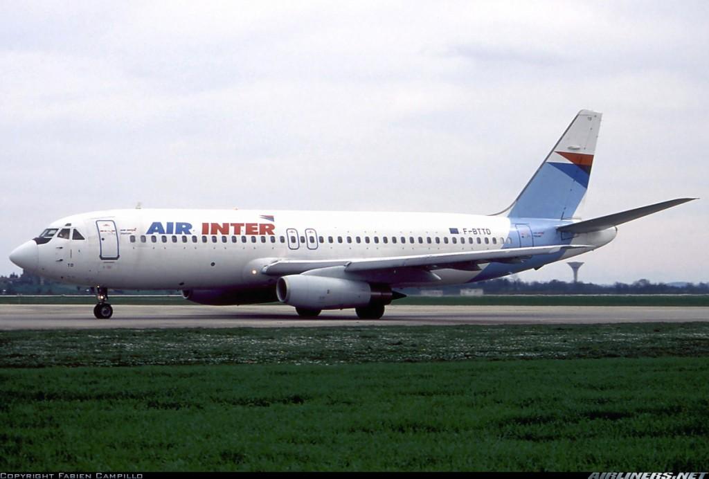 El Mercure F-BTTD de Air Inter carretea en el aeropuerto Saint Exupéry de Lyon en 1994. Los dos últimos ejemplares fueron retirados del servicio al año siguiente. Curiosamente este ejemplar en concreto se conserva en el museo de Le Bourget (Fabien Campillo /Airliners.net)