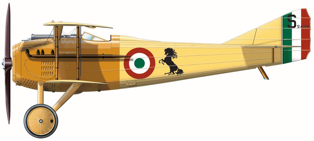 SPAD S.VII C1 de Francesco Baracca. Mayo de 1917 (©Ian Holmes / Plane Lines)