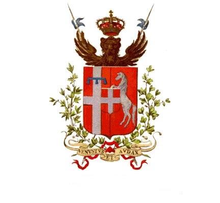 """Escudo de Armas del Segundo Regimiento de Caballería """"Piemonte Reale"""""""