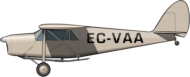 De Havilland DH-80 Puss Moth EC-VAA (www.aeropinakes.com)