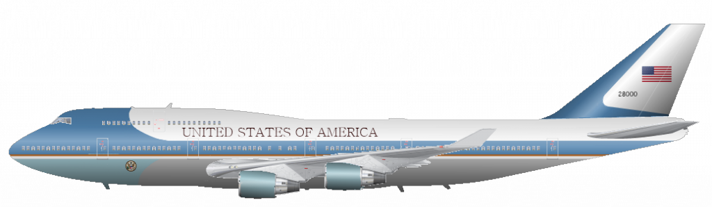 Boeing VC-25A Air Force One. N. 28000. 89th Airlift Wing. Edwards AFB