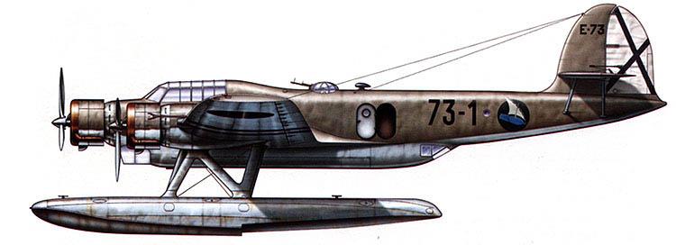 CANT Z.506B Airone. Grupo Mixto 62-73. Pollensa. 1938