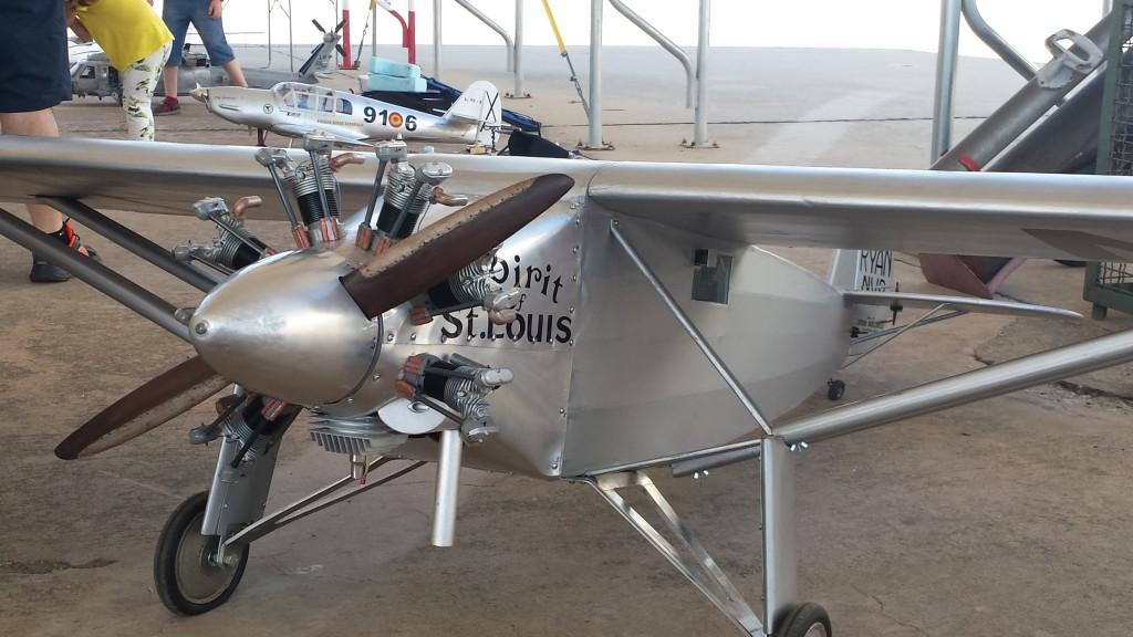 Modelo a escala del Ryan NYP, Spirit of St. Louis, con el que Charles Lindbergh cruzó el Atlántico en 1927.