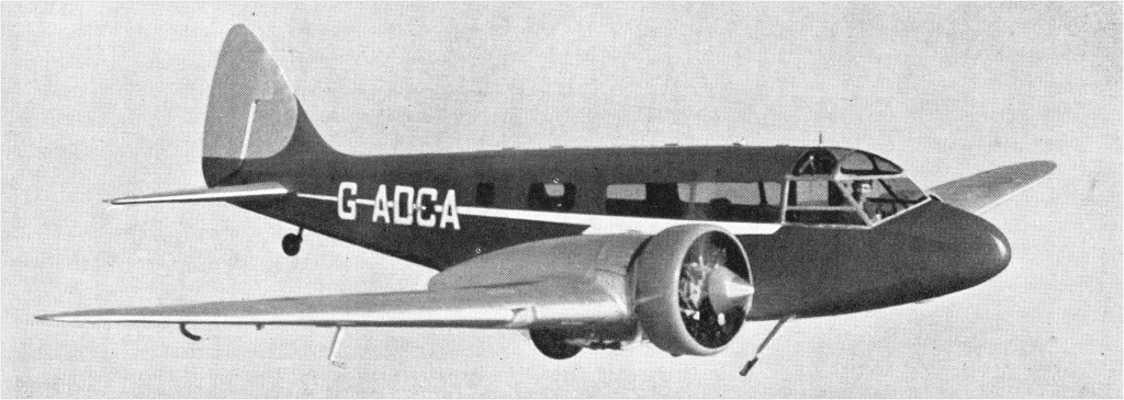 Un Airspeed AS.6 en vuelo, en una foto aparecida en la prestigiosa publicación aeronáutica Jane's All The World's Aircraft de 1936