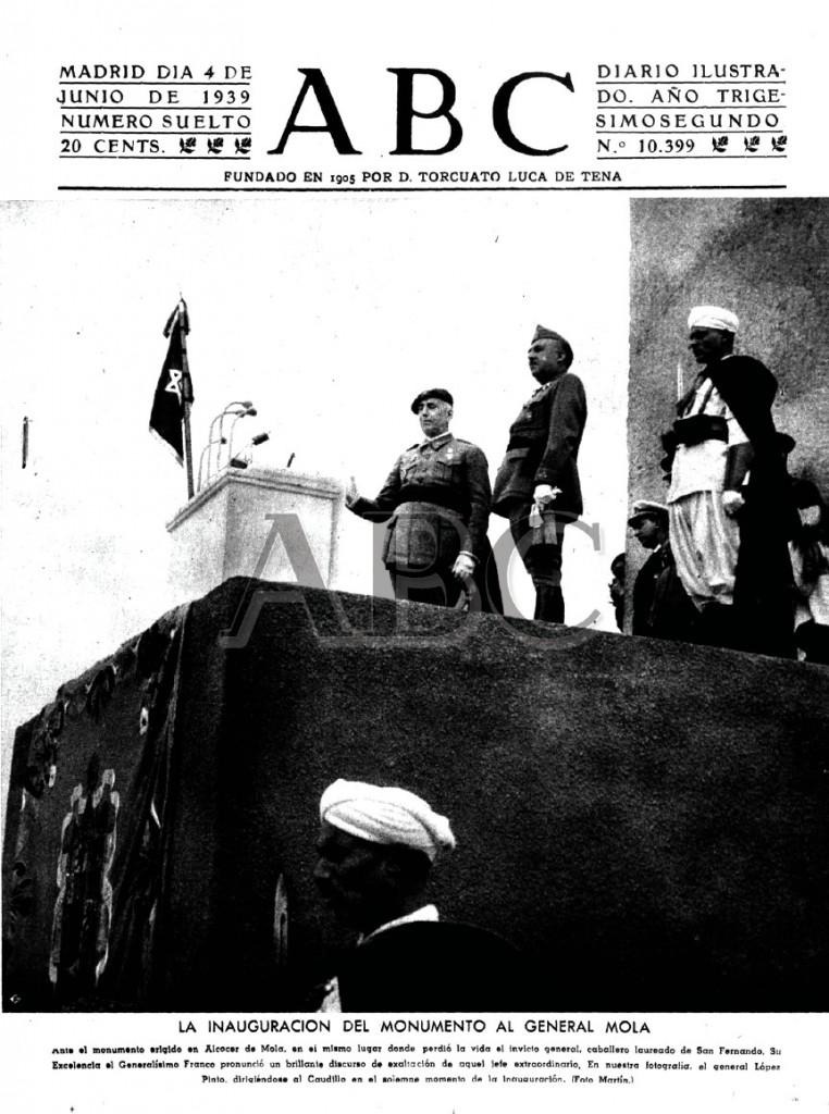 Las portadas de los periódicos nacionales recogieron la noticia de la inauguración del monumento, justo dos años después del accidente (ABC)