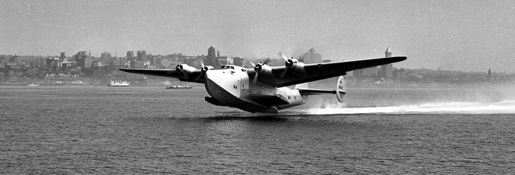 En uno de estos enormes Boeing 314 Yankee Clipper acudió Roosevelt a su cita con Churchill en Casablanca en 1943. Boeing construyó 12 ejemplares de este gran hidroavión entre 1938 y 1941. (www.boeing.com)