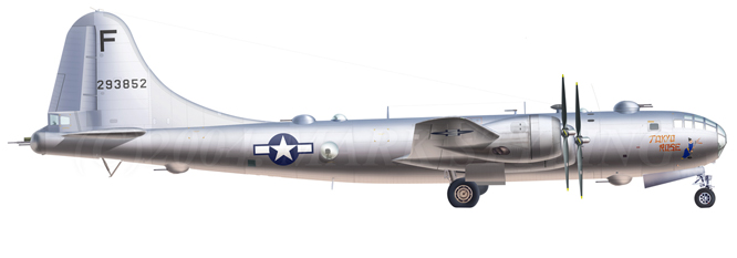 Boeing F-13 Superfortress ( n/r 42-93852) 3rd PRS, 20th AF, USAAF. Saipán. 1944