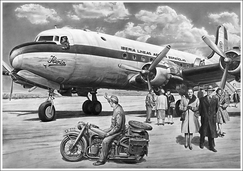 Douglas DC-4 EC-AEP (Ex C-54 USAF) (Jorge Alcacer: http://www.jalcacer.es/)