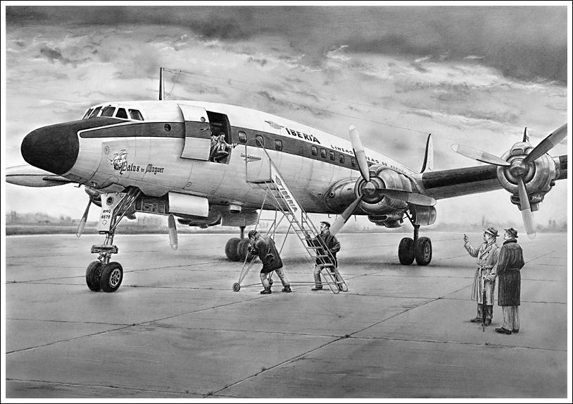 """Lockheed L-1049G-82-99 Super Constellation (Serial Number N.4676) EC-AMQ """"Palos de Moguer"""" (Jorge Alcacer: http://www.jalcacer.es/)"""