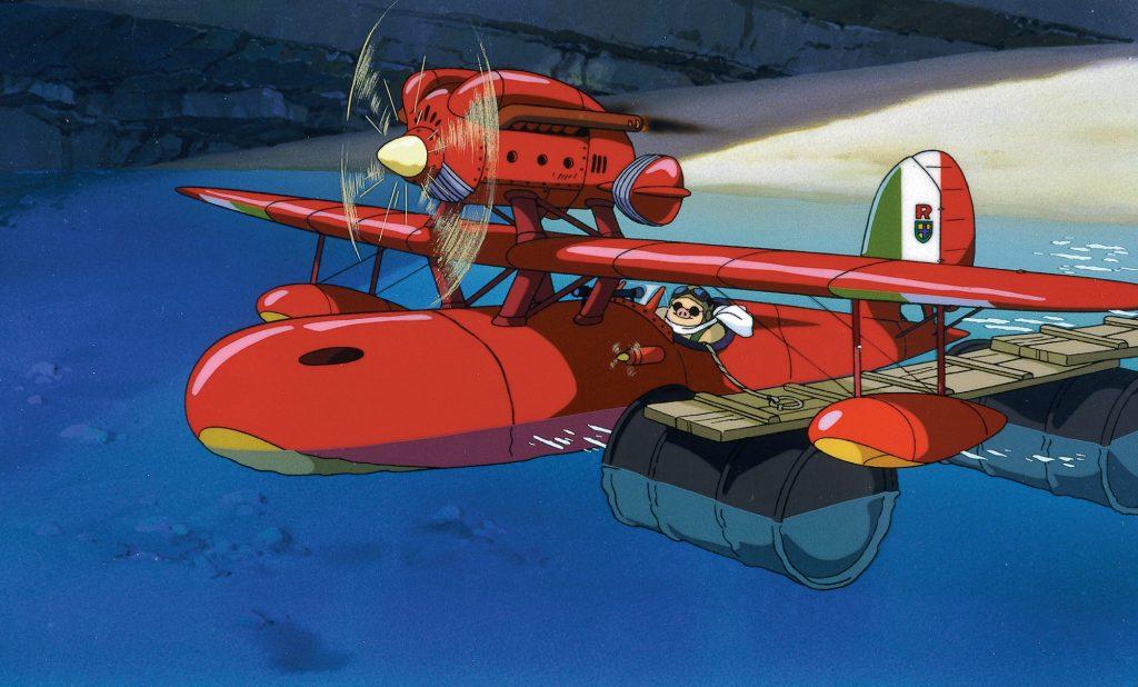 Porco Rosso calienta motores a bordo de su estilizado Savoia S.21, mostrando su parecido con el Macchi M.33 que compitió en la Copa Schneider de 1925 (http://movies.mxdwn.com)