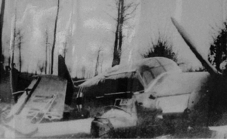 Restos del Bf 108 accidentado en las cercanías de Maasmechelen