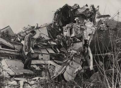 Restos del TriStar accidentado en los Everglades en la noche del 29 de diciembre de 1972. La propia configuración lacustre del pantano absorbió parte de la energía del impacto y ayudó a reducir el número de víctimas.(shivendrasaklani.com)