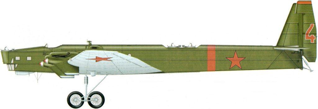 Tupolev TB-3 (4M-17). 4/28ª Brigada de Bombarderos Pesados. Extremo Oriente, principio de los 30 (© Anrey Yurgenson/ History of Aviation, 2002, No.5).